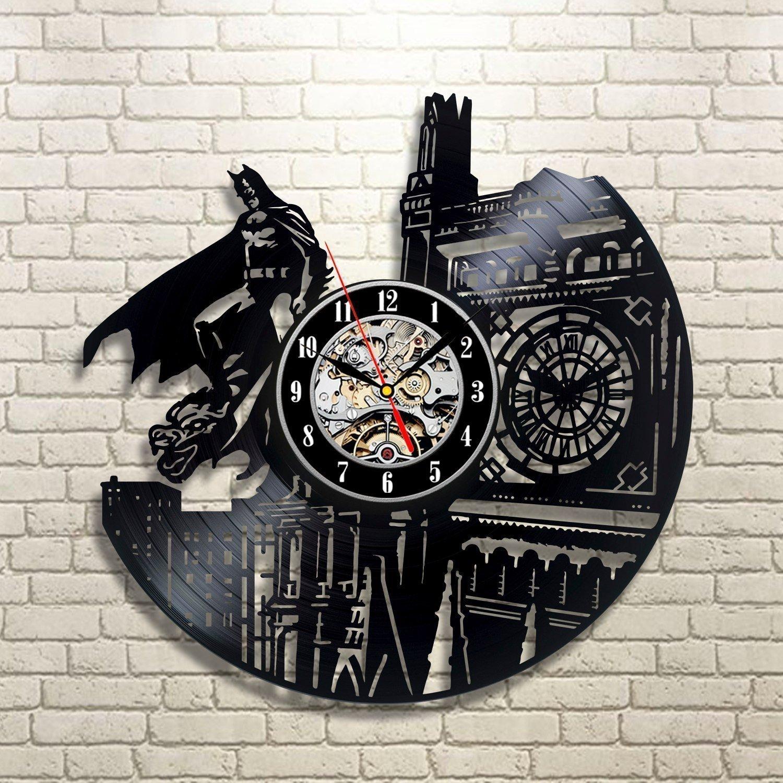 Shop amazon wall clocks batman dark knight hero arkham city dc comics movie characters vinyl record design wall clock amipublicfo Image collections