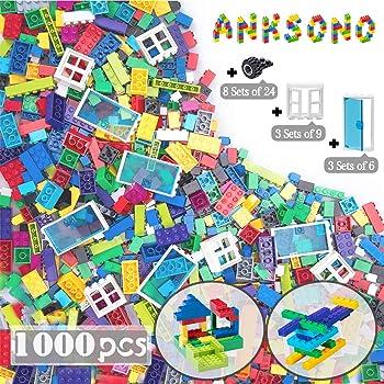 Anksono Building Bricks 1000 Pieces Lego Set For Kids