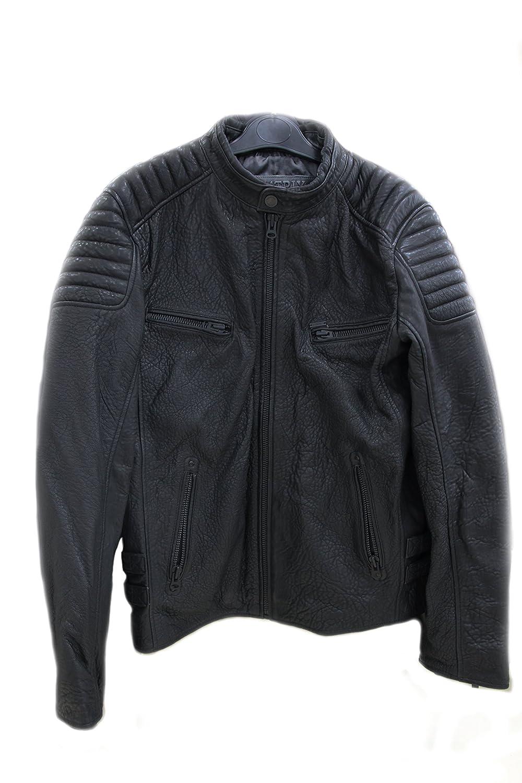 Mens Real leather biker jacket retro vintage