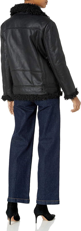 BB Dakota Womens Bosworth Vegan Leather Shearling Jacket
