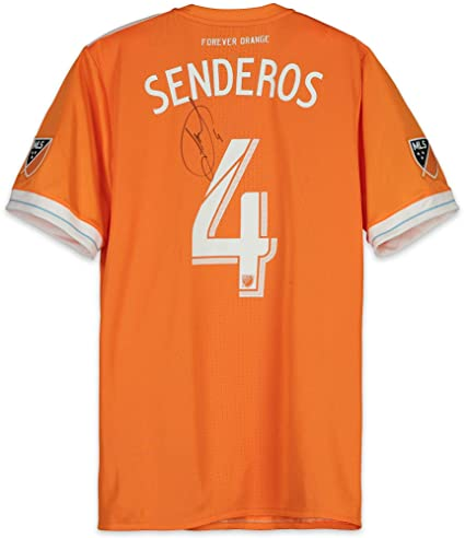 buy online c4e55 5db45 Philippe Senderos Houston Dynamo Autographed Match-Used ...