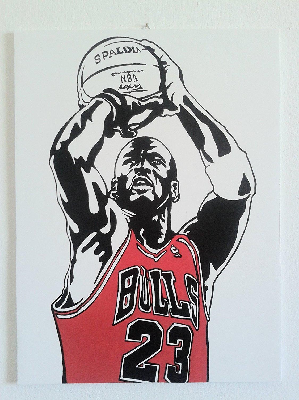 Michael Jordan - MJ - Baloncesto - cuadro moderno - Panel madera MDF ...