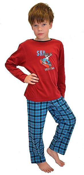 Calentador Knaben ropa de dormir pijamas de garngefärbter cuadros Franela Pantalones  Skater Impresión tamaños 104 - 164  Amazon.es  Ropa y accesorios d20118d16b4