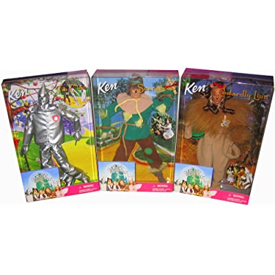 Barbie Ken Tin Man, Scarecrow & Cowardly Lion: Set of 3 Wizard of Oz Collectible: Toys & Games [5Bkhe0204720]