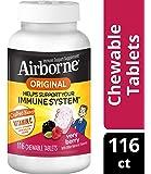 Airborne 浆果咀嚼片,116片- 1000毫克维生素C - 补充剂