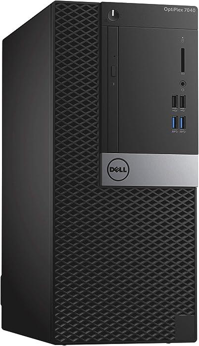 Dell OptiPlex 7040 Mini Tower PC, Intel Quad Core i7 6700-3.2 GHz,16GB DDR3L RAM, 256GB SSD, WiFi, Windows 10 Pro(Renewed)