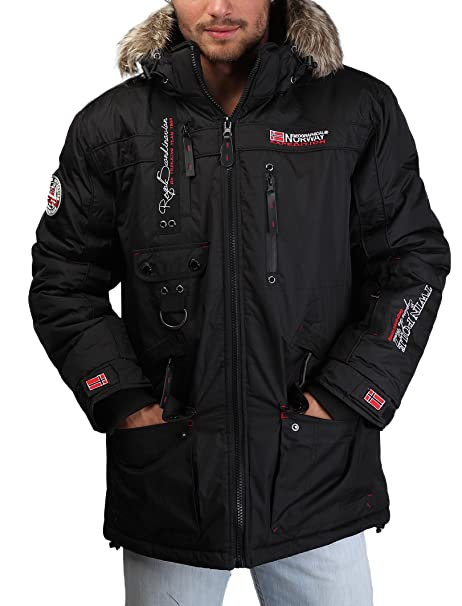 GEOGRAPHICAL NORWAY chaqueta hombre Avoriaz negro - hombre - L: Amazon.es: Ropa y accesorios