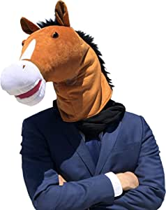 WALIKI Horse Head Mask   Luxury Edition   Serious Horse Men Costume Brown