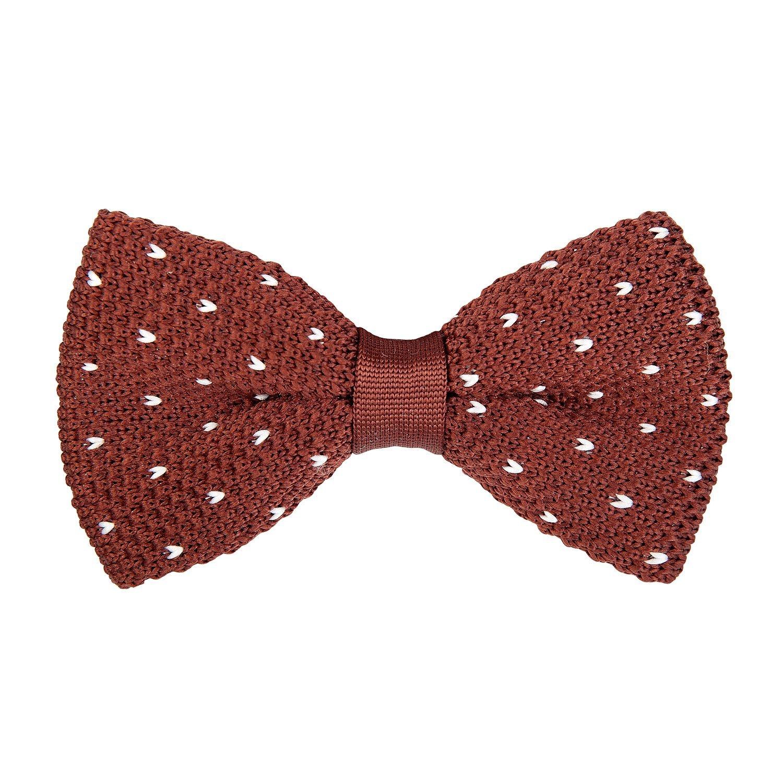Marcell Sanders corbata de moño Marrón de lana con los corazones ...