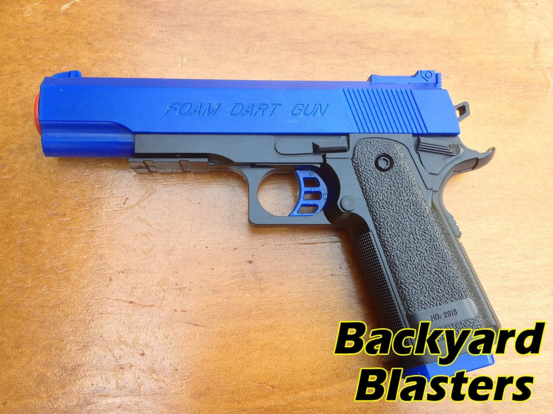 Amazon.com : Detective M1911 Nerf Foam Dart Gun - Colt .45 ACP Toy Gun |  Backyard Blasters : Sports & Outdoors