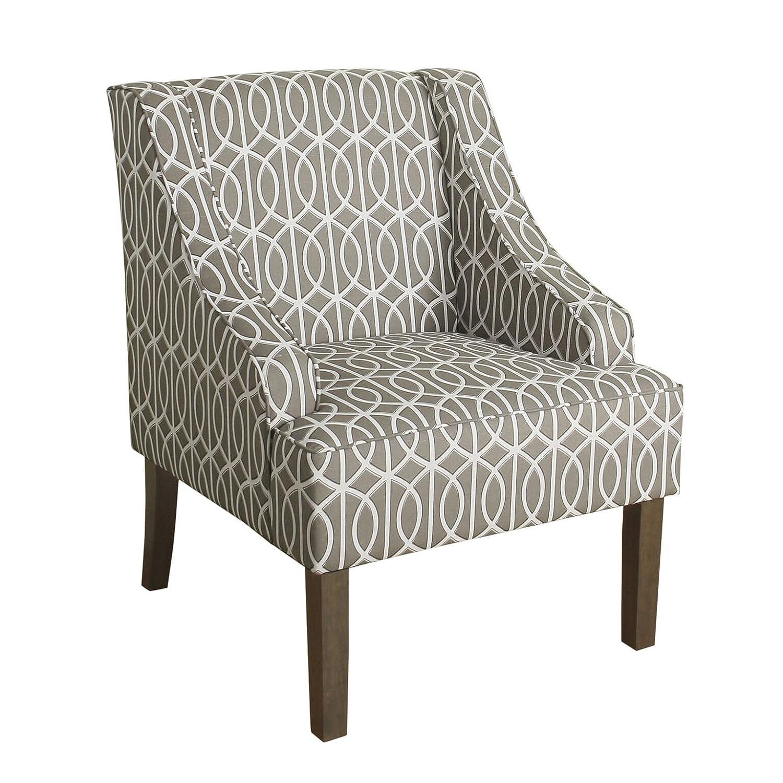 Amazoncom Homepop K6499 A769 Swoop Arm Accent Chair Medium Blue