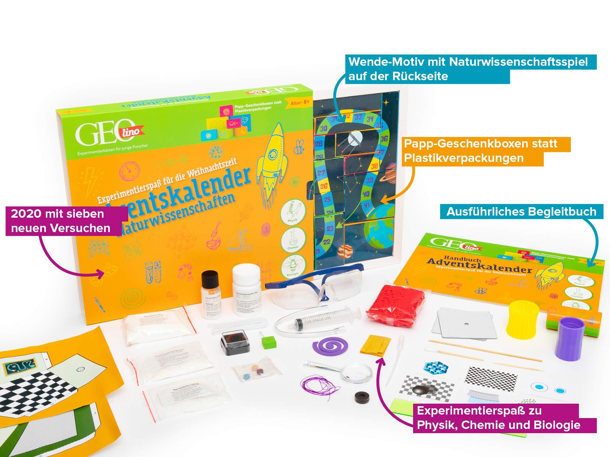 GEOlino Technik /& Elektronik Adventskalender 2020 Experimentierspaß für die Weihnachtszeit