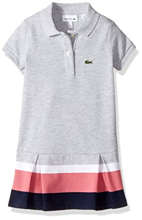 d2ab06dbb Amazon.com  Lacoste Girls  Little Short Sleeve Pleated Bottom Dress ...