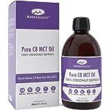 C8 MCT Aceite Puro | 100% Coconut | Produce 3 X Más Cetonas Que Otros MCT Aceites | Triglicéridos de Acido Caprílico | Paleo y Vegano Amistoso | Botella Sin BPA | Ketosource®