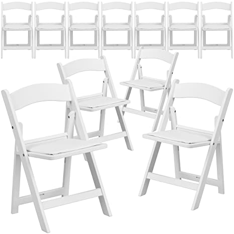 Excellent Flash Furniture 11 Pk Kids White Resin Folding Chair With White Vinyl Padded Seat Squirreltailoven Fun Painted Chair Ideas Images Squirreltailovenorg