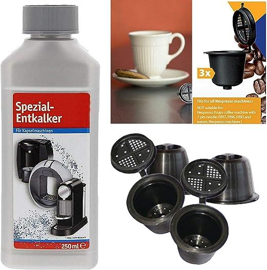 TronicXL - Juego de cápsulas para cafeteras Nespresso, rellenables ...