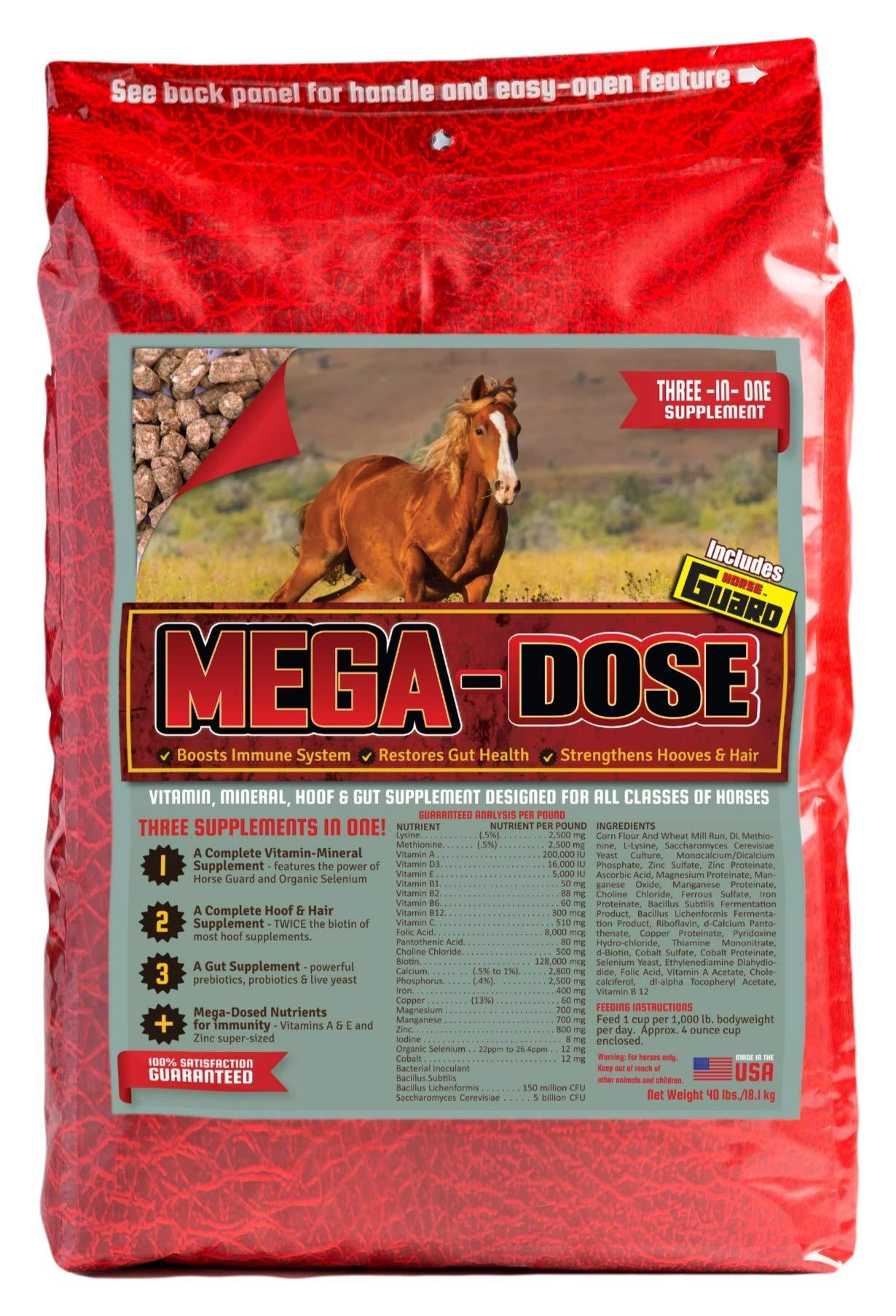 Horse Guard Mega Dose Equine Vitamin Mineral Hoof & Probiotic Supplement, 40 lb by Horse Guard (Image #1)