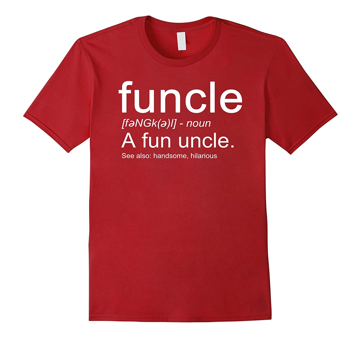 ca2c0bcd Funcle a Fun Uncle Definition Shirt, Funny Novelty Tee-ANZ ⋆ Anztshirt