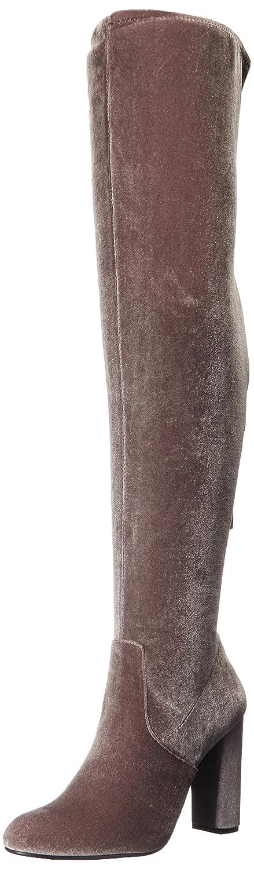 Steve Madden Women's Emotions Over The Knee Boot B01MCS1A7O 5.5 B(M) US|Grey Velvet