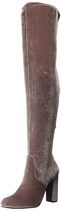 cfbd5205df8 Steve Madden Women s Emotionv Harness Boot Grey Velvet 5.5 ...