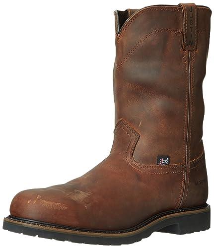 Amazon.com | Justin Original Work Boots Men's Worker Two Steeltoe ...