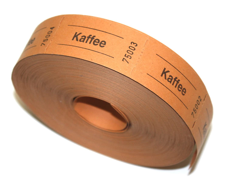 Bonrolle KAFFEE orange 1000 perforierte Abrisse