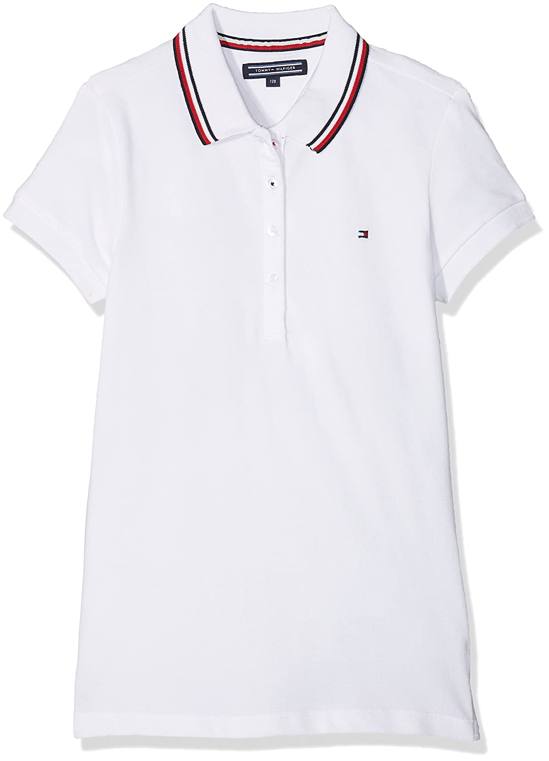Tommy Hilfiger Girl's AME Sweet Polo S/S Shirt KG0KG03391