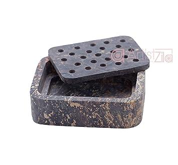 Amazoncom Artistzila Natural Marble Soap Dish Bathroom Accessory