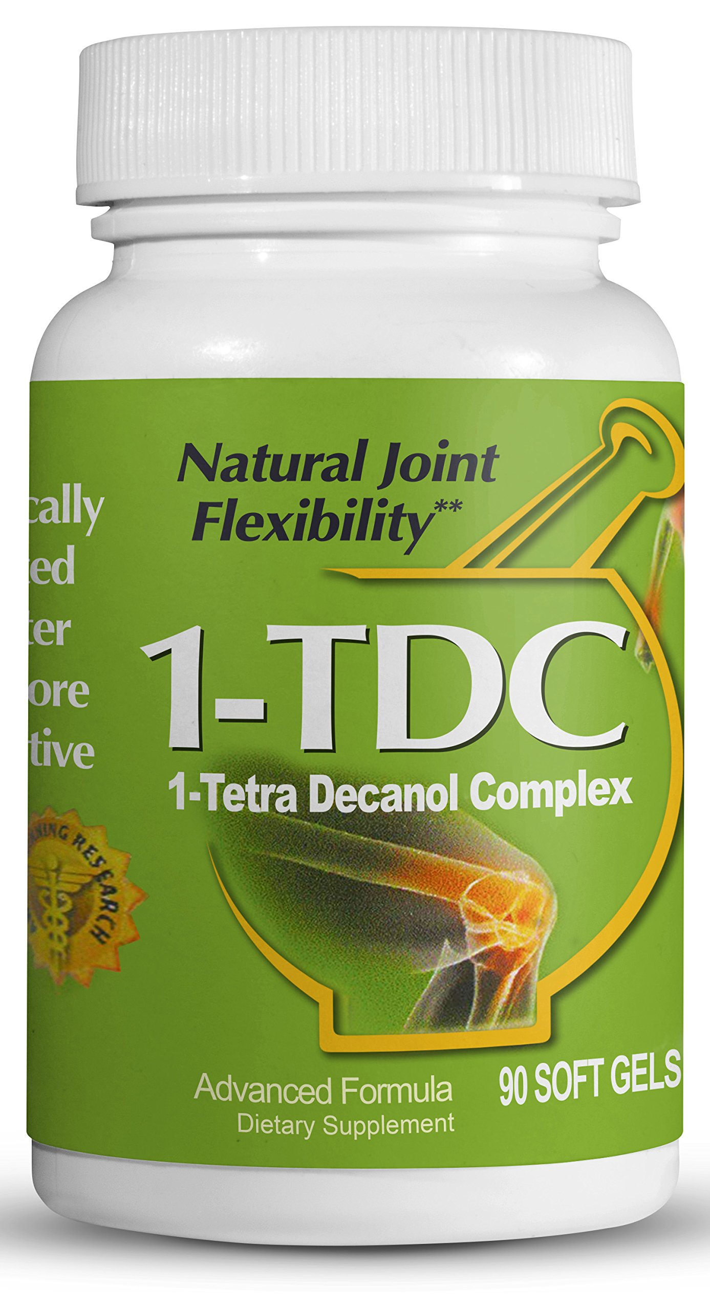 1TDC – Joint & Muscle Health – 90 Soft Gels | Formulated to Provide Complete Body Relief | Enhanced with 1-TetraDecanol Complex to Promote Natural Joint Flexibility | Safe & Effective by 1-TDC