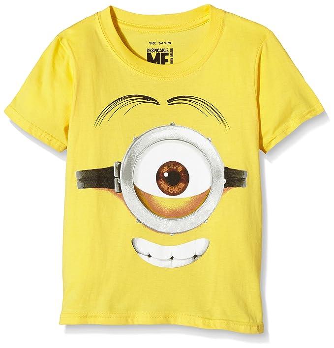 50e34fb06c2d3 MINIONS Stuart Face, T-Shirt Garçon  Amazon.fr  Vêtements et accessoires