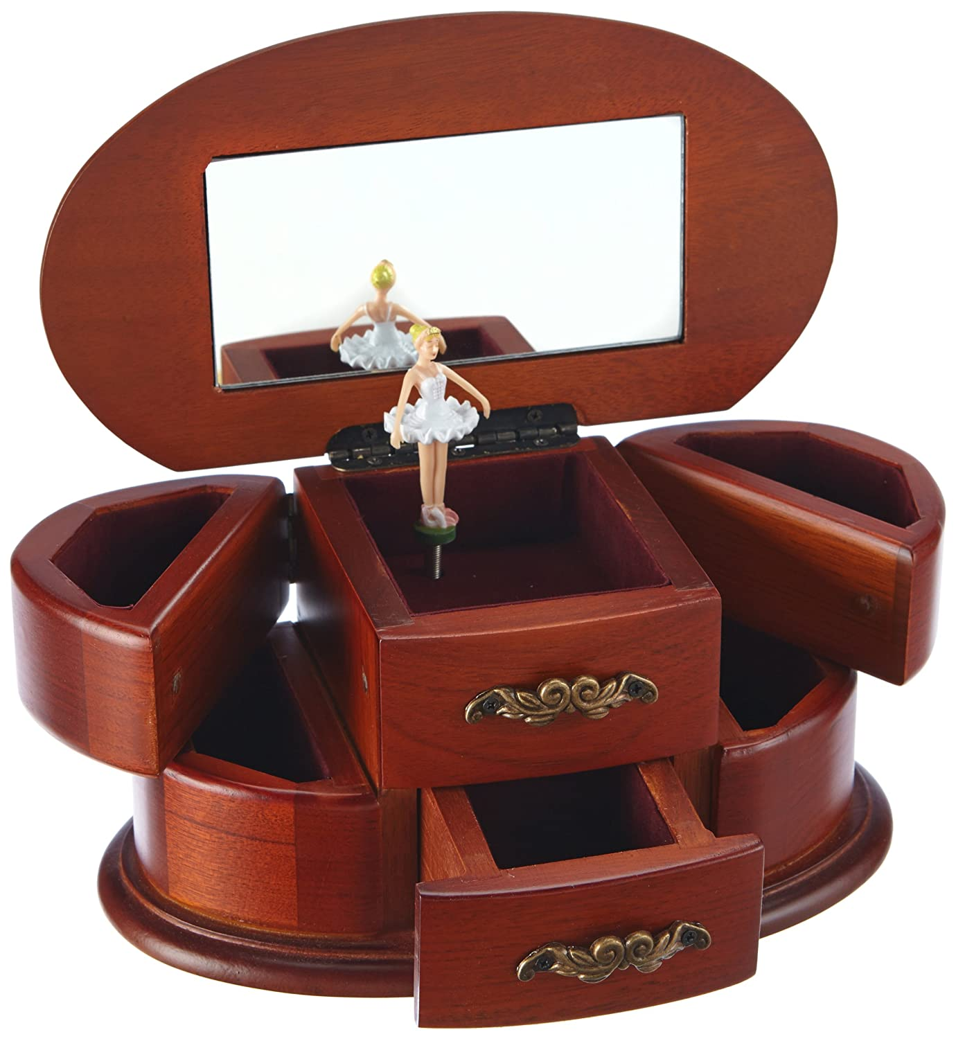 Amazoncom MusicBox Kingdom 16066 Wooden Ballerina Musical Jewelry