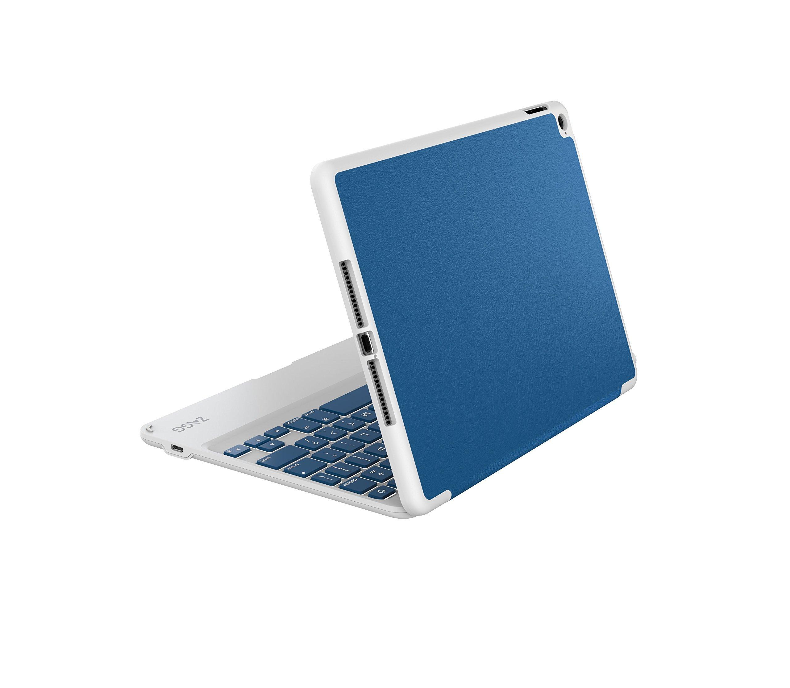 ZAGG Folio Case, Hinged with Bluetooth Keyboard for iPad Air 2 - Blue