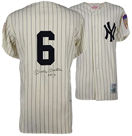 Mickey Mantle New York Yankees Autographed Vintage Cooperstown ... a15fb6e502f