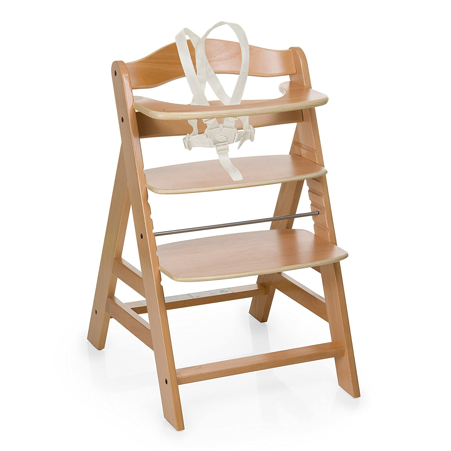 Hauck Alpha Wooden Height Adjustable Highchair with 5 Point