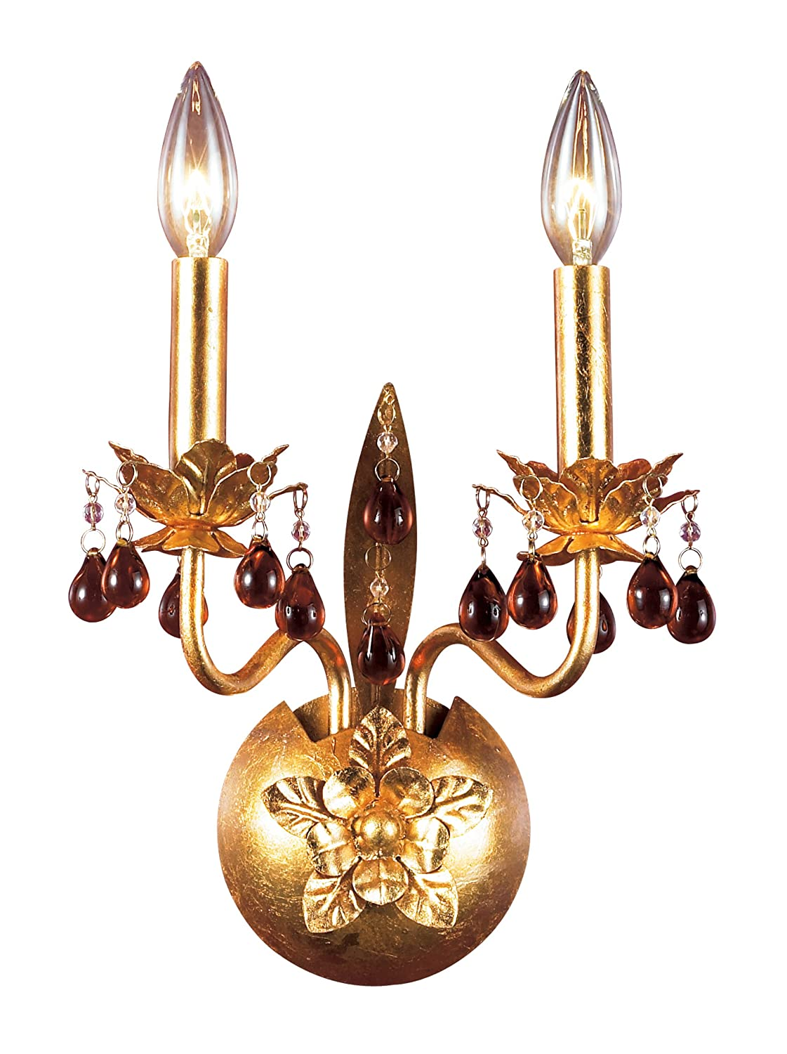 Eurofase 14567-018 Ambroise 2-Light Wall Sconce Gold