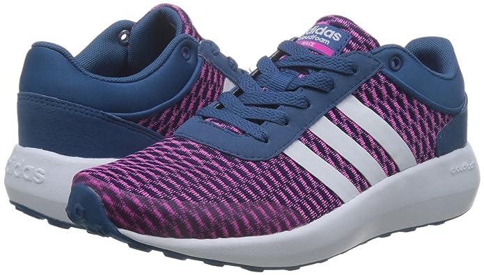 adidas Damen Cloudfoam Race W Sneaker Low Hals, Blau (Azubas