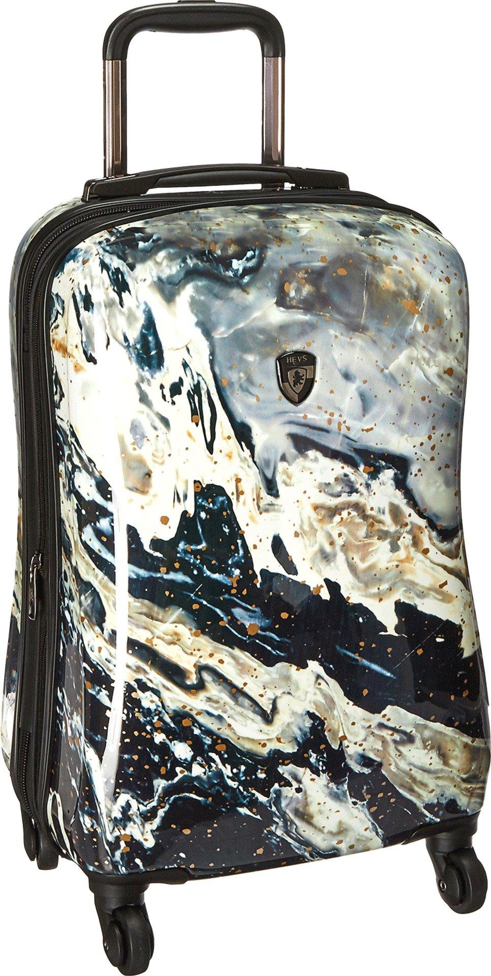 Heys America Unisex Nero 21'' Spinner Black/White Luggage by HEYS AMERICA