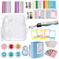 Neewer 10-in-1 Accessories Kit for Fujifilm Instax Mini 8/8+/9 Includes: Camera Case,Album,Selfie Lens,6 Colored Filter,5 Table Frame,20 Wall Hanging Frame,40 Border Sticker,2 Corner Sticker,Pen,Strap