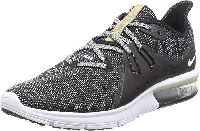 Nike Men's, Air Max Sequent 3 Running Sneaker Black Grey 14 M