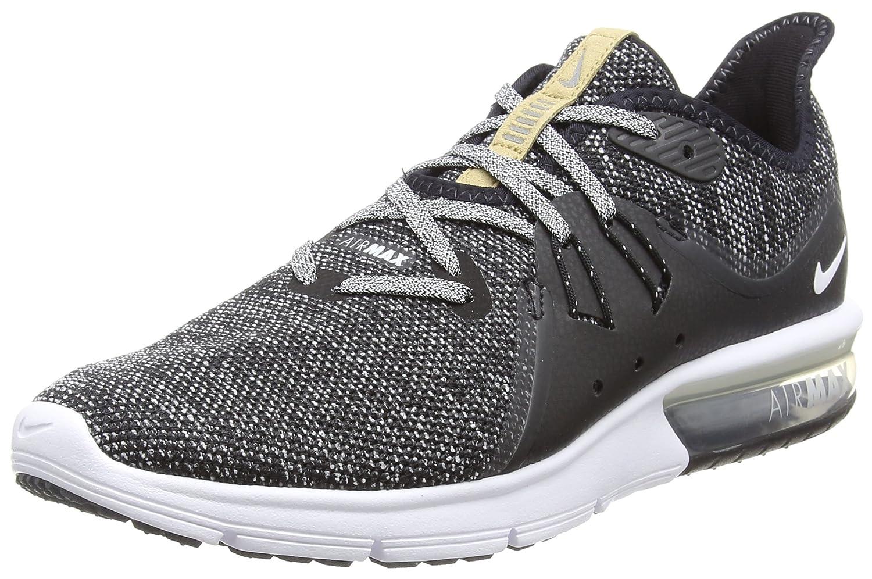 Nike Air MAX Sequent 3, Zapatillas para Hombre 48.5 EU|Negro (Black/White/Dark Grey 011)