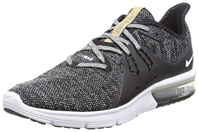 92b7cf13c Nike Men's Air Max Sequent 3 Fitness Shoes, (Black/White-Dark Grey ...