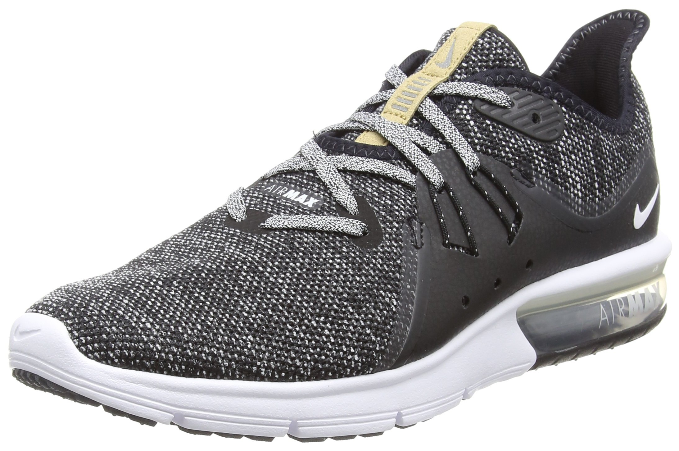 f83a78559bf Galleon - Nike Men's Air Max Sequent 3 Running Shoes Black/White-Dark Grey  10.5