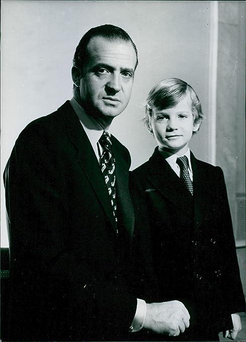 Vintage foto de familia real española: King Juan Carlos y el príncipe Felipe. 1976: Amazon.es: Hogar