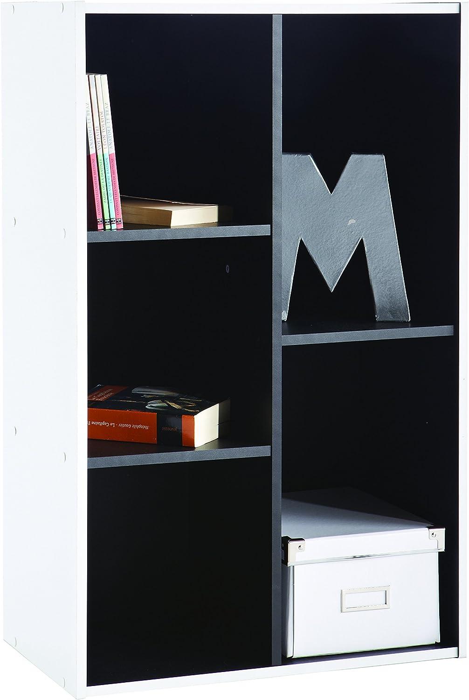 Demeyere - Estantería Multiusos, Color Blanco y Negro: Amazon.es: Hogar