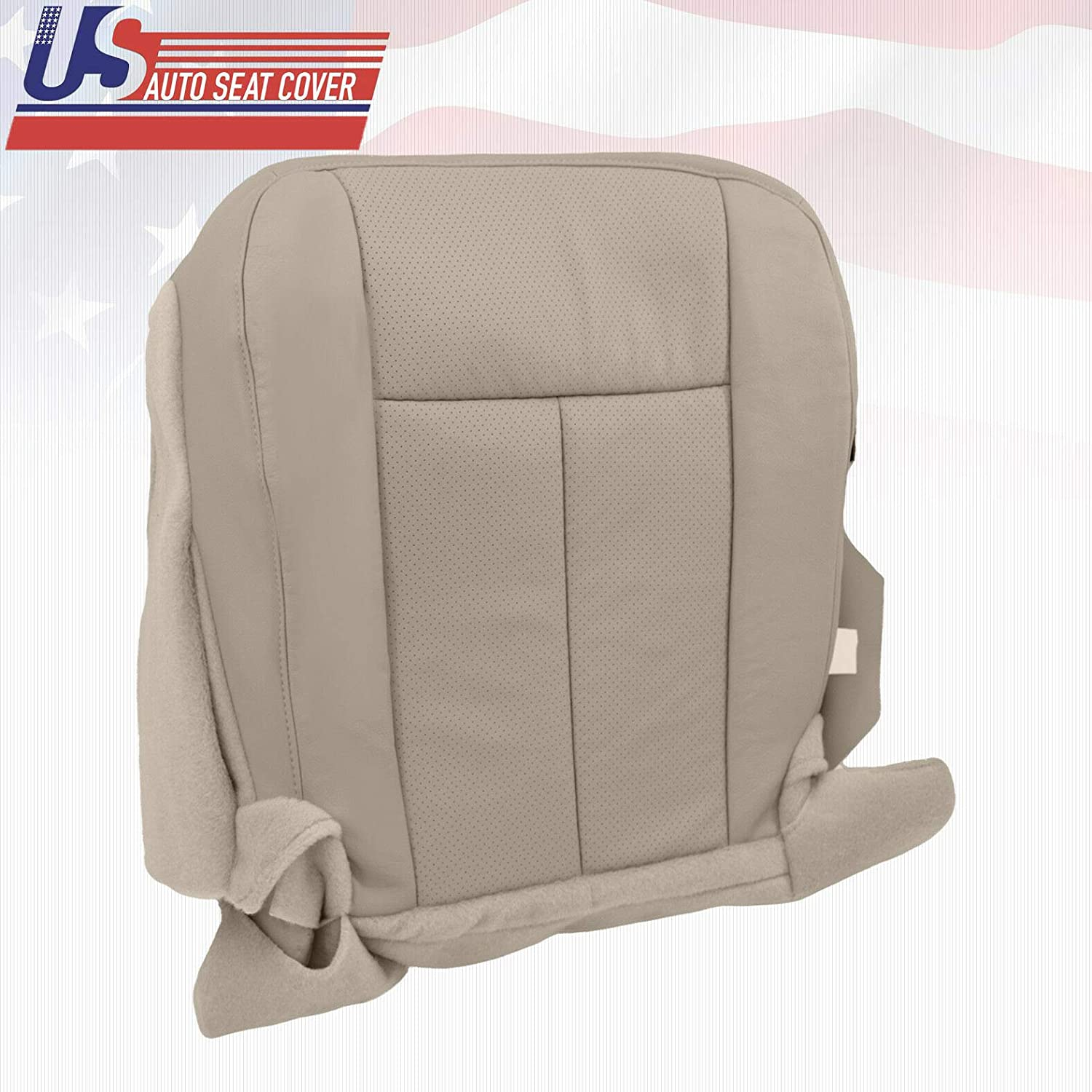 2010 2011 2012 Ford Expedition Driver Bottom Perforated Leather Seat Cover Tan