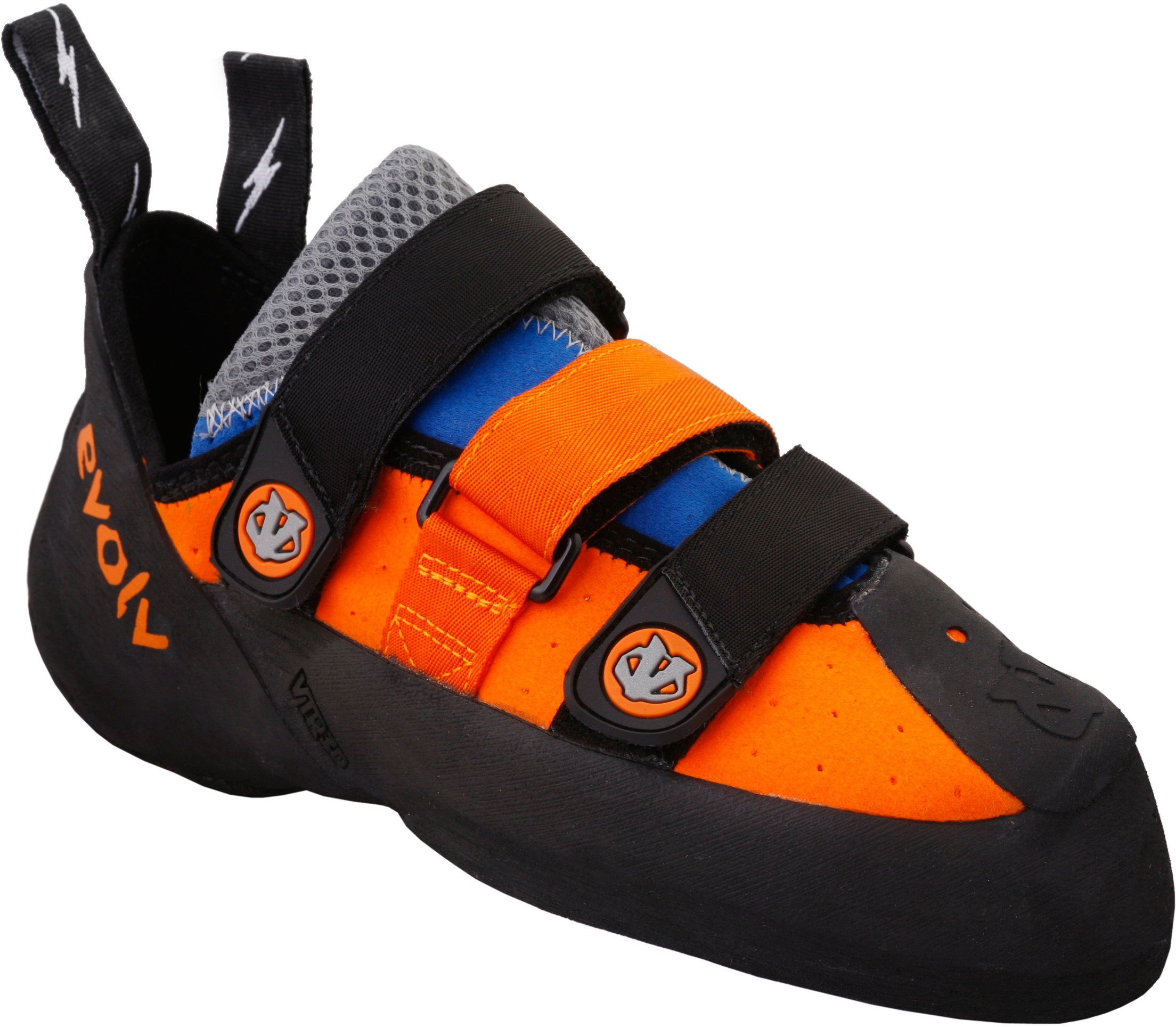 Evolv Men's Shaman Climbing Shoe,Orange/Blue,4.5 M US