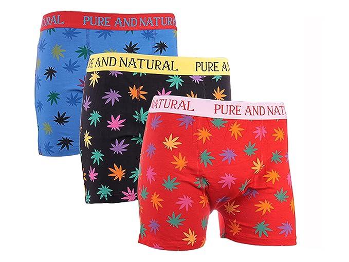 IMTD para hombre – 3 pares de calzoncillos con diseño de hoja de marihuana, ropa