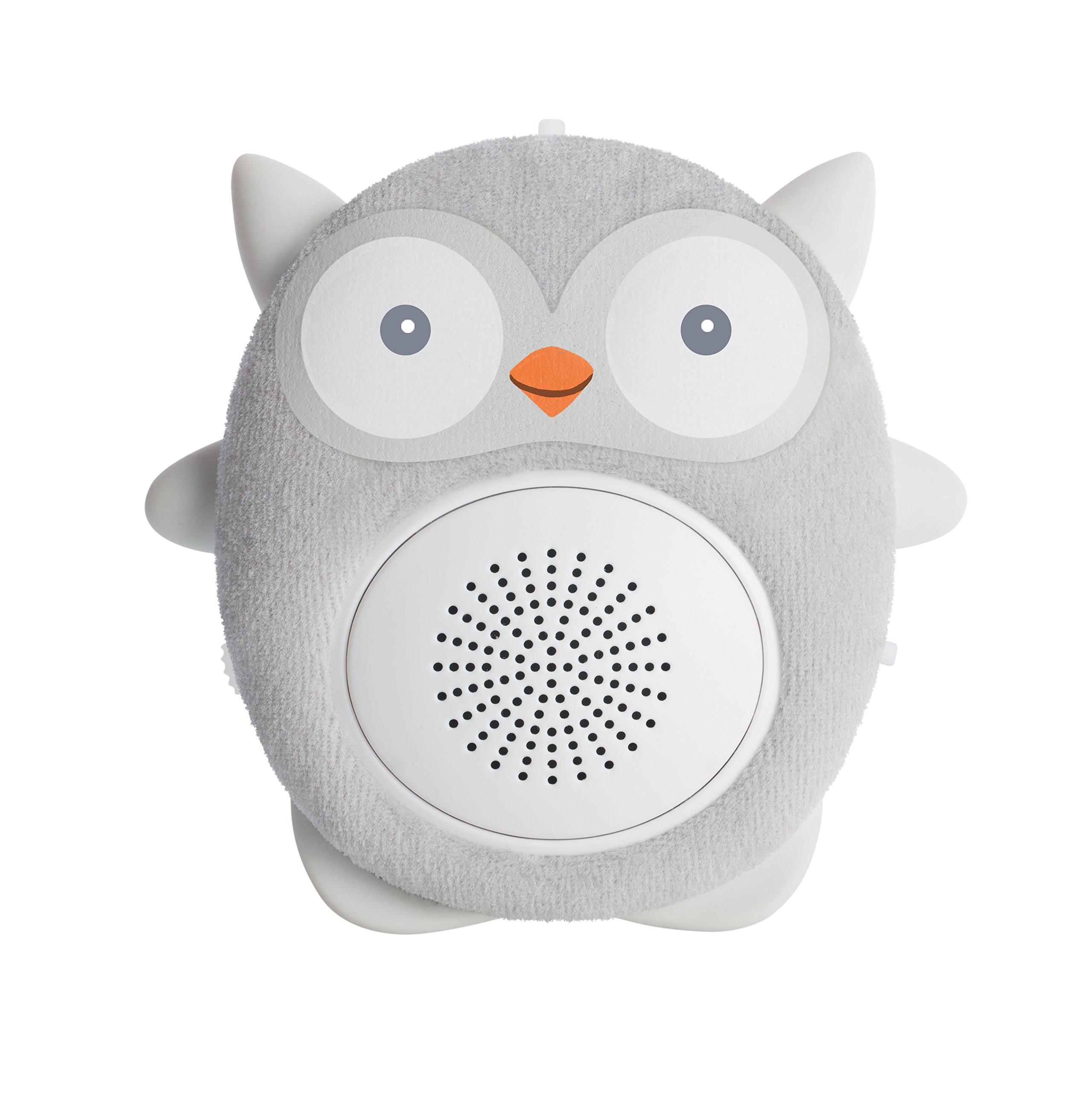 SoundBub, White Noise Machine and Bluetooth Speaker | Portable and Rechargeable Baby Sleep Sound Soother by WavHello – Ollie the Owl, Gray