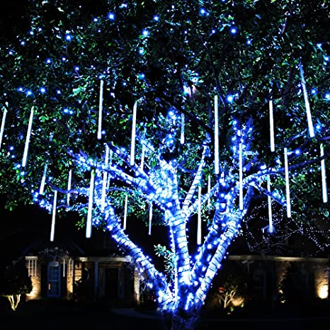 meteor shower rain lights waterproof string for wedding party christmas xmas decoration tree party garden string