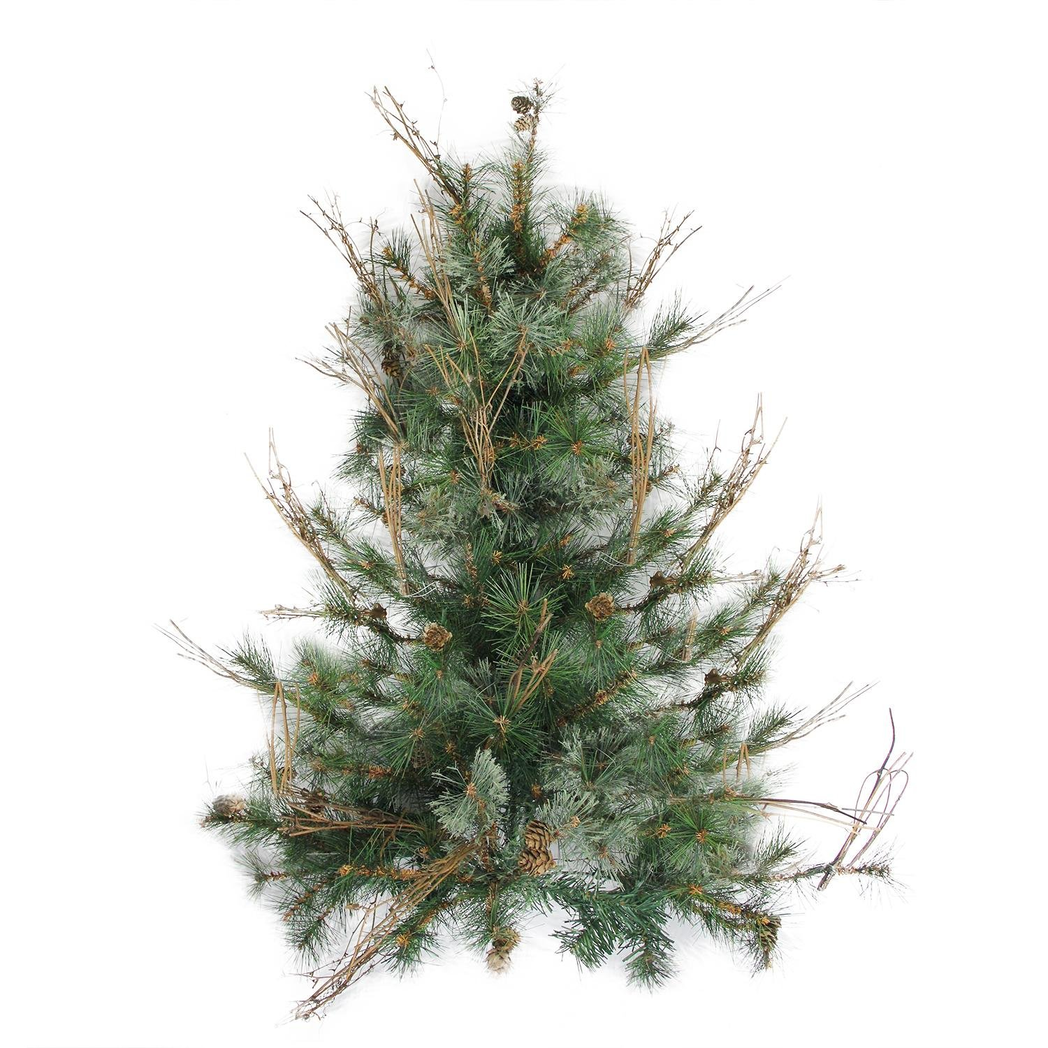 Northlight 3' x 28'' Country Mixed Pine Artificial Christmas Wall or Door Tree - Unlit